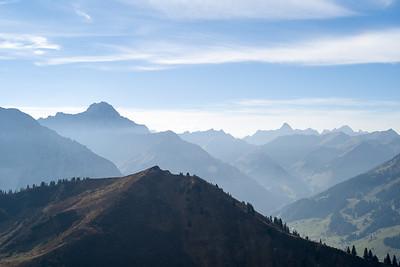 Bergpanorama von der Kanzelwand, Kleinwalsertal, Österreich