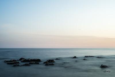 Gesteine am Meer bei Umag, Kroatien