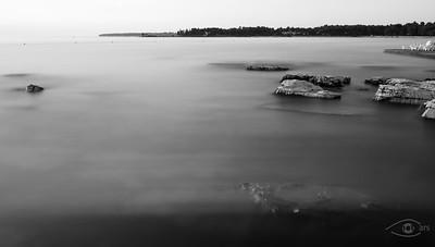 Steine/Felsen im Meer, Umag, Istrien, Kroatien