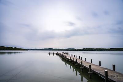 Morgens am Wörthsee, Oberbayern, Bayern, Deutschland