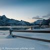 Ørsvåg i Lofoten med Vågakallen i bakgrunnen
