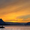 Desemberlys i Bodø med Sandhornet og Fugløya i bakgrunnen