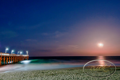 Full Moon, Virginia Beach, Sandbridge, Little Island Pier
