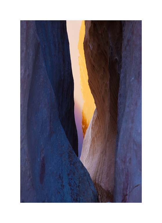 Canyon Light - Reflection of canyon walls in pool of water. Red Rock Canyon, Nevada