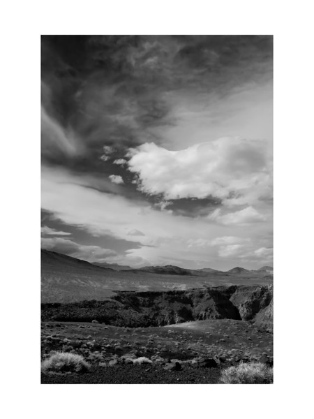 Open Range I - Clouds over Rainbow Canyon, Death Valley.