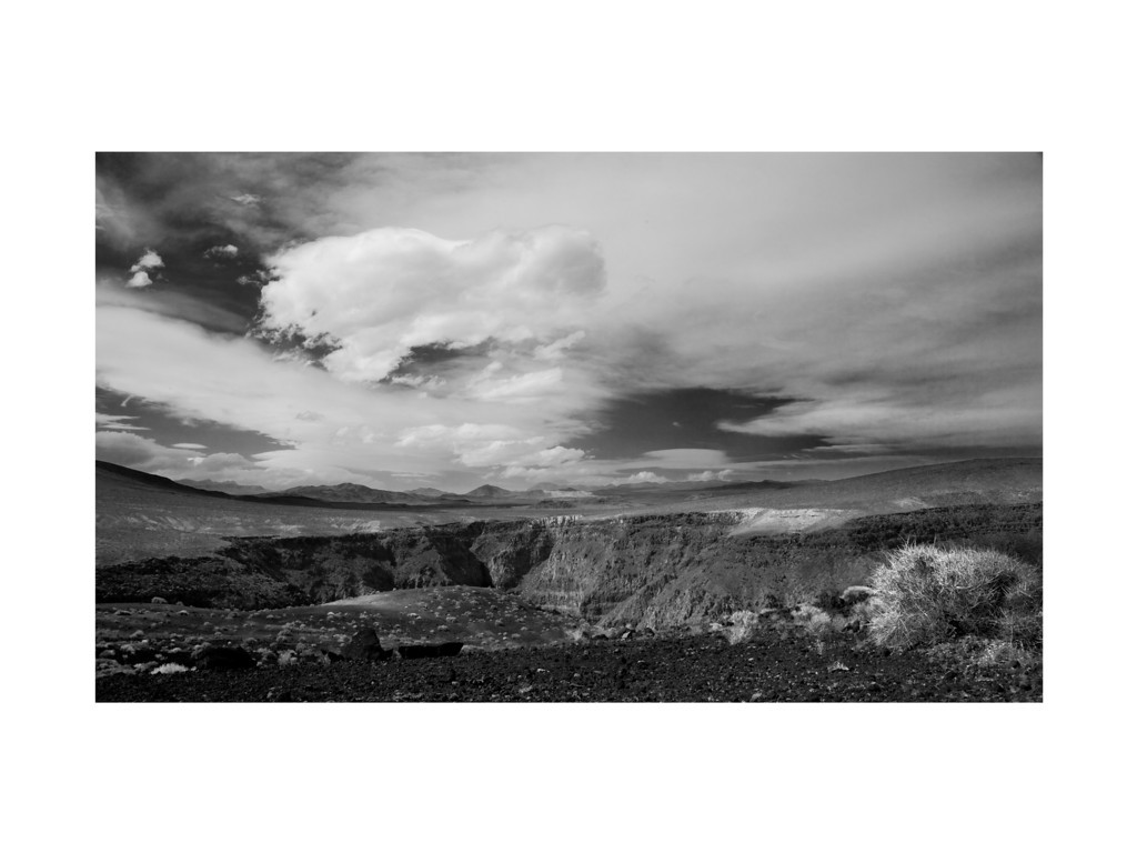 Open Range II - Clouds over Rainbow Canyon, Death Valley.