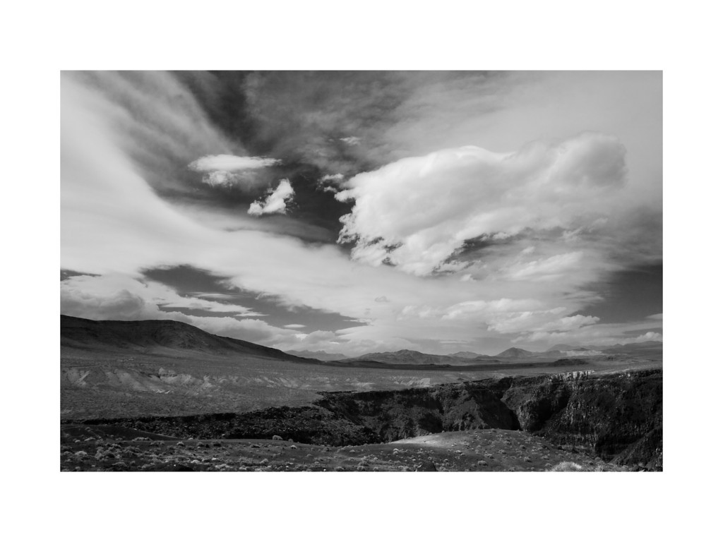 Open Range III - Clouds over Rainbow Canyon, Death Valley.