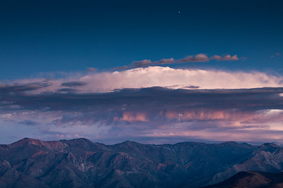 Chilean Andes Mountains Under Stars & Thunderstorm