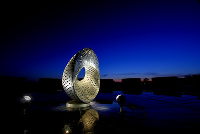 Mobius Sculpture at Dusk