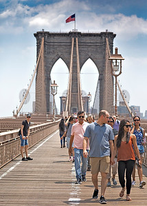 Brooklyn Bridge Tower and Promenade