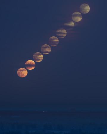 Moonrise Partial Eclipse