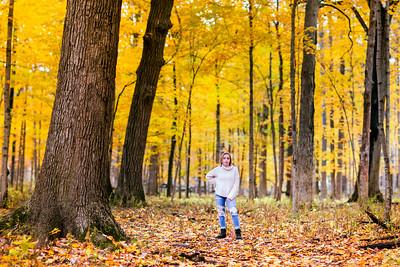 M in Yellow Autumn Woods