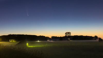 Comet NEOWISE (C/2020 F3) Above Fermilab