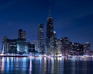 Chicago - Streeterville Neighborhood at Twilight.