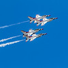United States Air Force Thunderbirds performing their precision flying demonstration at 2019 Wings Over Houston, Houston, Texas.