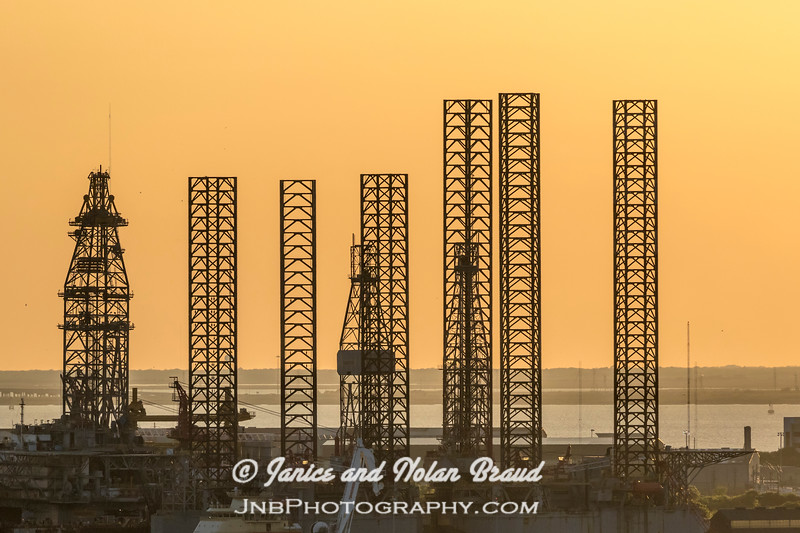 Sunset on Galveston Harbor