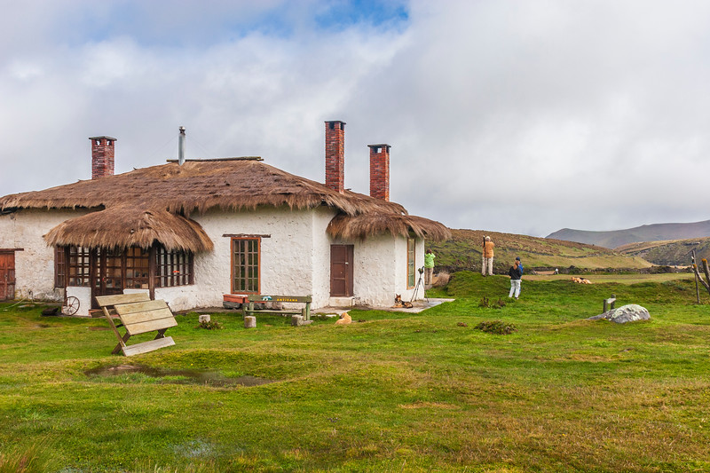 Hacienda in Antisana Reserve in the Andes Mountains in Ecuador. Approx 14000 ft altitude.