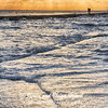 Windy sunrise on Galveston East Beach
