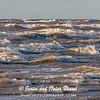 Wind and Waves on Galveston East Beach at sunrise.
