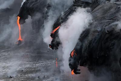 """Dragon Stone"" (Kamokuna ocean entry, Hawaii Volcanoes National Park 08/21/2016)"