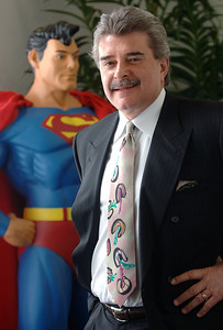 Ernest Sorini, chairman of ER-One Inc, poses in his Livonia Office on Feb. 27, 2007.  (Photo by Mark Bialek)