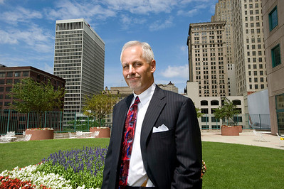 Butzel Long Managing Partner, Justin Klimko, poses outside his office in Detroit, Michigan on July 29, 2011.  (Photo by Mark Bialek)