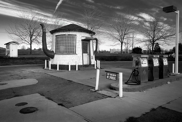 The historic Teapot Dome Service Station in the Lower Yakima Valley