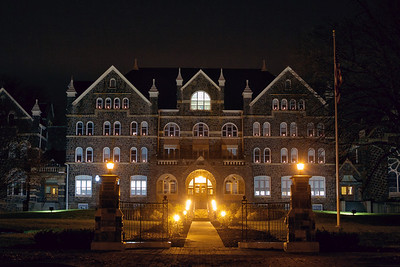 Comenius Hall at Night
