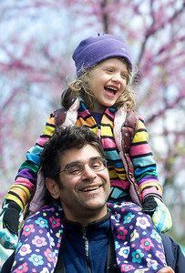 Zoltan Jung and his daughter, Kinga, 5 enjoy Earth Day at the Leslie Science Center in Ann Arbor, MI on April 22, 2012.  (Photo by Mark Bialek)