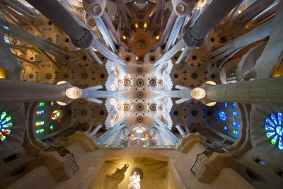 Amazing roof and columns, supposed to look like a forest - Sagrada Familia