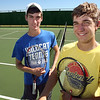 Jake Katz and Tucker Hopkins, double partners for Gregory-Portland High School Wildcats