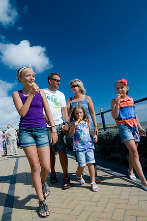 Family ice creams. Barry Island. Visit Wales
