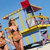 Two girls enjoying the sunshine on South Beach
