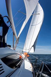 Sailing off Greenwich, CT