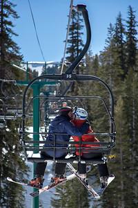 Skiing at Kirkwood, California