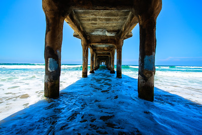 Blue Under Manhattan Beach Pier