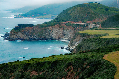 Bixby Creek Bridge in Big Sur from the south