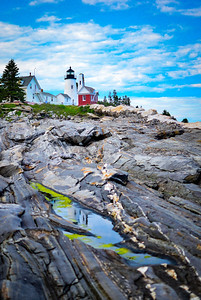 Reflections of Pemaquid Point Lighthouse, ME