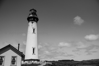 Black and White lighthouse in Black and White