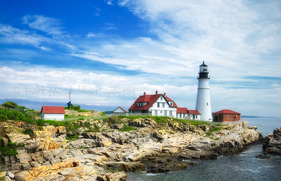 Sunlit Portland Head Light