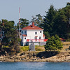 Active Pass Lighthouse on Mayne Island in the Gulf Islands between Vancouver and Victoria, British Columbia. Also known as Georgina Point Lighthouse. Marks the entry to the channel leading from the Strait of Georgia south through the islands to Swartz Bay. Still Active. Canadian Coast Guard.