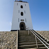 Unusual Lighthouse (de vuurbaak) at Katwijk Aan Zee on the North Sea in South Holland. Lighthouse dates from 1605.