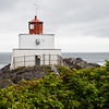 Amphitrite Point Lighthouse at Ucluelet on the West Coast of Vancouver Island, British Columbia. Active and staffed. Maintained by Canadian Coast Guard.