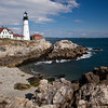 Portland Head Lighthouse, at Portland, Maine, was established in1791, is the oldest lighthouse in Maine. It was completed during George Washington's third year as president, and, remarkably, the original buildings still remain standing, though it has benefited from numerouse repairs and renovations. It is one of the most photogenic and most photographed lighthouses in the Eastern US.