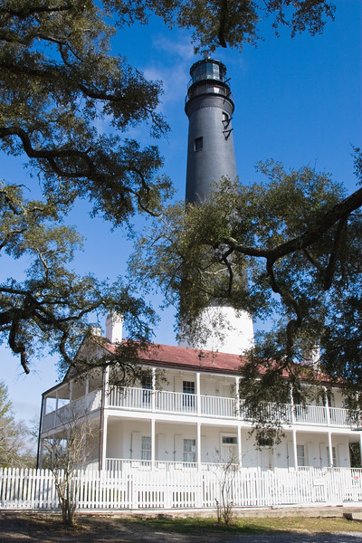 Pensacola Light House in Florida. The lighthouse is located on the grounds of Naval Air Station Pensacola, home to the Blue Angels. The original 1824 lighthouse site is next to the Navy Lodge, located between the 1858 lighthouse and Fort Barrancas. In 1998, before an addition to the lodge was made, a team of archaeologists was brought in to recover any artifacts from the site of the original lighthouse and dwelling. A published report indicates that glass, keys, latches, toys, and hairpins, all thought to be associated with the original lighthouse were discovered at the site. The archaeologists could even determine the Ingraham's diet based on evidence recovered at the site. Some of the artifacts will be displayed at the Navy Lodge.