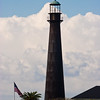 Bolivar Lighthouse, on Bolivar Peninsula, Bolivar, Texas. Privately owned and not open to public.