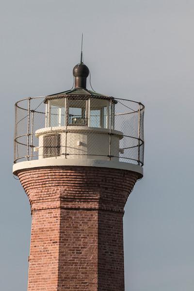Aransas Pass Lighthouse, also known as Lydia Ann Lighthouse, in Aransas Bay, near Port Aransas, Texas.