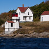 Squirrel Point Lighthouse, located on the southwest tip of Arrowsic Island in the  Kennebec River in Maine, was established in 1898. This lighthouse was part of a project to provide adequate navigation lights, aids, etc., on the Kennebec River which was a very important waterway at the time. Other lighthouses built at the same time included the Doubling Point Light, Perkins Island Light, the Kennebec River Range Lights and various fog horns and bells. The light remains an active aid to navigation.