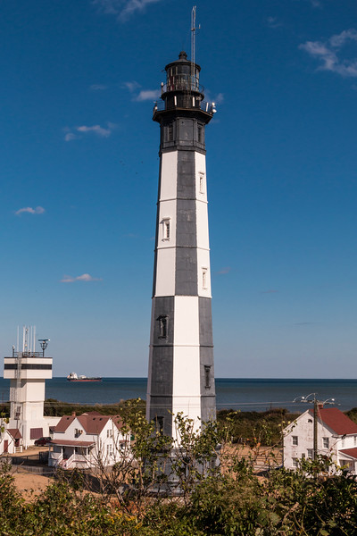 Completed in 1881, the New Cape Henry Lighthouse replaced the Old Cape Henry Lighthouse as an aid to navigation. Both lighthouses are still standing today.