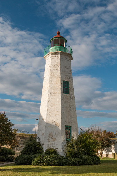 Old Point Comfort Lighthouse , built in 1803, at the entrance to Hampton Roads Harbor in Virginia.